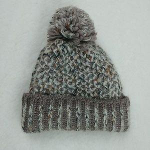 Raffaello Bettini chunky knit pom pom beanie
